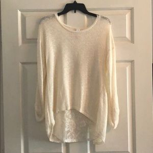 Laced back sweater size 7-9